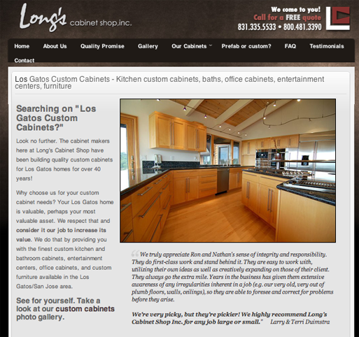 Los Gatos Custom Cabinets