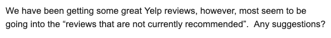 why is Yelp hiding my reviews?